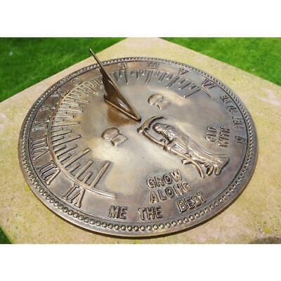 Antique Old Father Time Sundial - 450mm Diameter