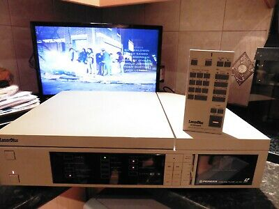 RARE Vintage 80s PIONEER LD1100 LASERDISC PLAYER WITH REMOTE WORKS - PAL - JAPAN