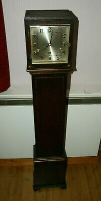 1920/30's Oak Cased Grandmother Clock - ANVIL Westminster Chimes Movement