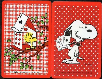 Snoopy Pair Of Swap Cards In New Condition X2 Cards With Snoopy