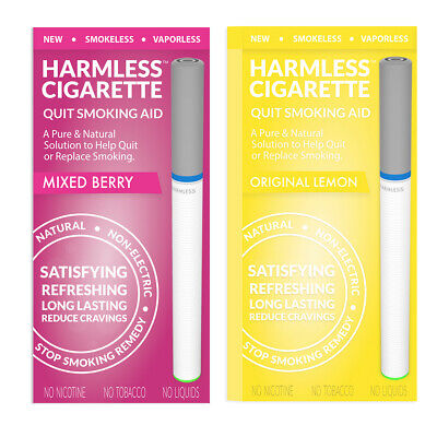 Harmless Cigarette Quit Smoking Aid Variety 2 Pack Mixed Berry and Lemon