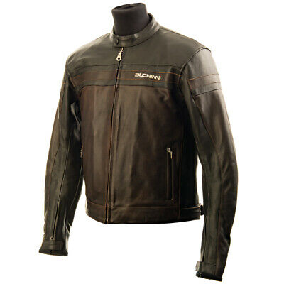 Duchinni Kansas Cuir Veste Moto - Noir Marron - 2XL