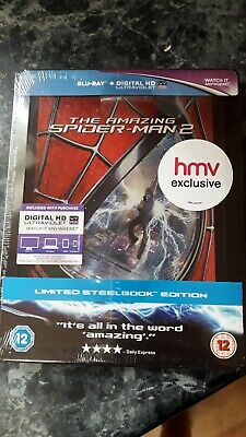 The Amazing Spider Man 2 Hmv Exclusive Blu Ray Steelbook New. Marvel.