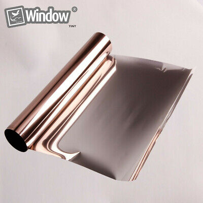 Silver&Bronze Window Tint One Way Mirrored Privacy Solar Tint Decoration Sticker