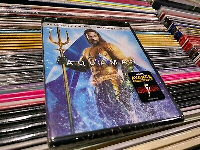 Aquaman  4K Ultra Hd + Blu Ray + Pelicula Digital Precintada Nueva