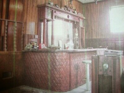 RARE!  Antique Back Bar w/Mirror, Bar & 3 Stools ~150 Years Old from New Orleans