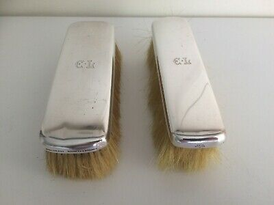 Pair of Antique Sterling Silver Tiffany & Co Clothes Brushes 1907 - 1938 Lot 2