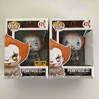 Funko Pop Movie IT Pennywise with Balloon Hot topic Exclusive #475 with boat 472