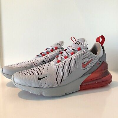 NEW NIKE AIR Max 270 Wolf Grey University Red AH8050 018 Mens Size 9 Alabama