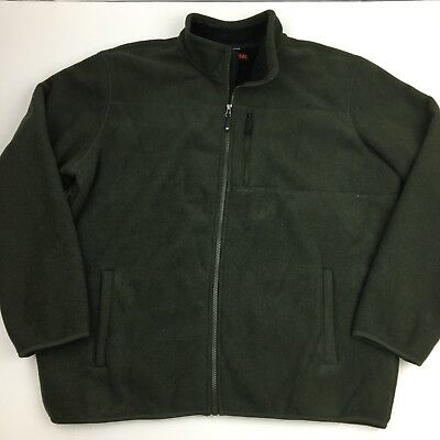 32 Degrees Heat Men's Jacket Sherpa Lined Heathered Fleece Full Zip XXL Green