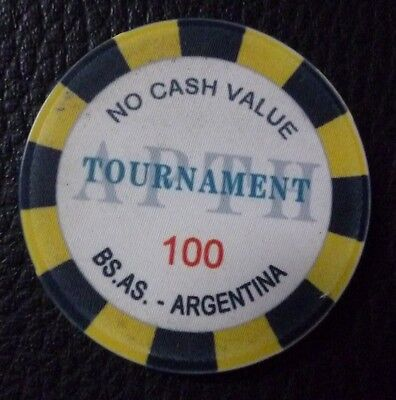 ARGENTINA CASINO CHIP Buenos Aires Poker Association (APTHA), $100