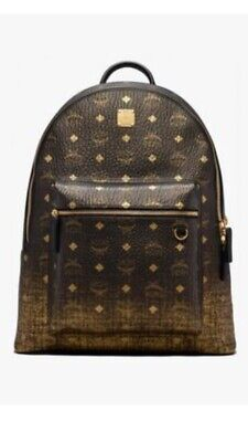 MCM Rucksack Backpack Neu Gold 100% Original