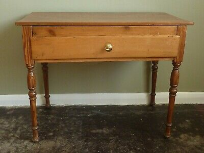 Victorian Pine Side Table With Later Repairs