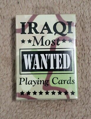 IRAQI Most Wanted US Playing Cards| Authentic Made In USA New Sealed Rare