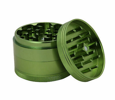 Green Grinder 40mm Metal Herb 4 Part Magnetized Anodize Aluminium Mill Crusher