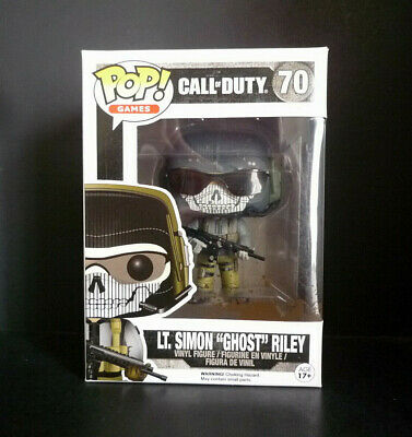 "Funko Pop! Call of Duty Lt. Simon ""Ghost"" Riley Muddy Vinyl Figure #70 Vaulted"