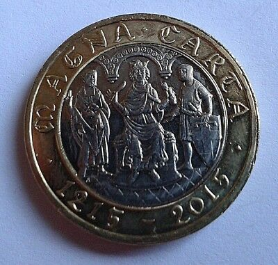 £2 Rare Commemorative 2015 Magna Carta Circulated Two Pound Coin Royal Mint UK