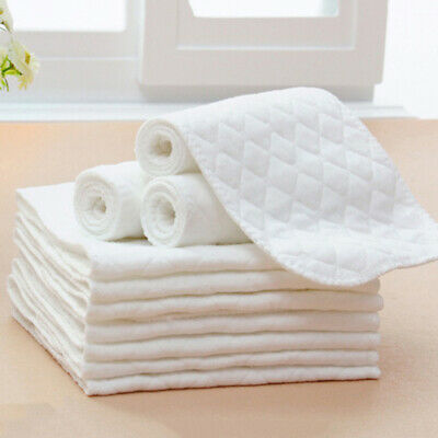 5 pcs Washable Three-layer Ecological Cotton Diaper Newborn Baby Product 46*17cm