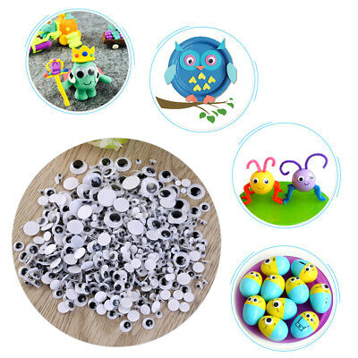 700pcs 4-12mm Wiggle Googly Eyes Self-Adhesive for Dolls Kids Crafts