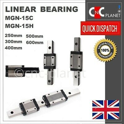 MGN SERIES 15mm LINEAR BEARING GUIDE SLIDE RAIL CARRIAGE BLOCK MGN15C MGN15H CNC