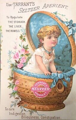 Tarrant's Seltzer Aperient Quack Medicine Girl Child Doll Victorian Trade Card