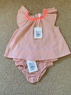 COUNTRY ROAD Baby Girls Size 18-24 Months Embroided Top And Bloomer Set BNWT