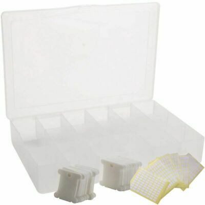 1X(Embroidery Floss Organizer Box - 17 Compartments with 100 Hard Plastic F Q4B4