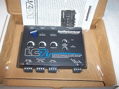 AUDIOCONTROL LC7i BLACK 6-CHANNEL LINE OUTPUT CONVERTER WITH BASS RESTORATION