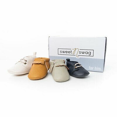 New US Boys Sweet n Swag Baby Shoes Moccasins 4 Pairs Lot for Baby's First Year