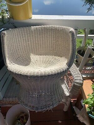 Vintage Antique Wicker Chair