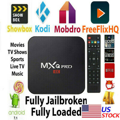 4K 3D 64Bit Android 7.1 TV Box Quad Core Smart 1080P HDMI WIFI KODI 17.6 MXQ Pro