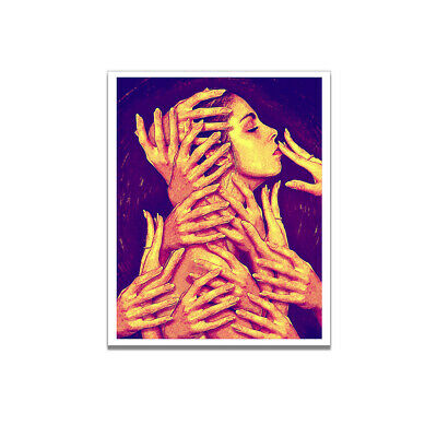 Wall Home Canvas Modern Picture Living Room Woman&Hand Art Poster Decor Gifts UK