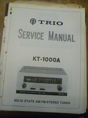 Kenwood KT-1000A  Stereo Tuner Service Manual
