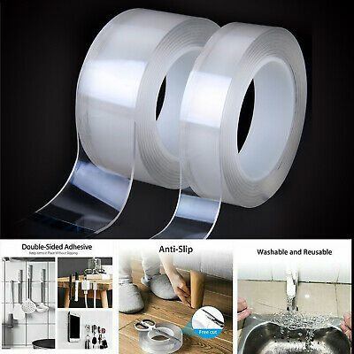 5m Multi-function Double-sided Adhesive Nano Tape Washable Removable Sticker