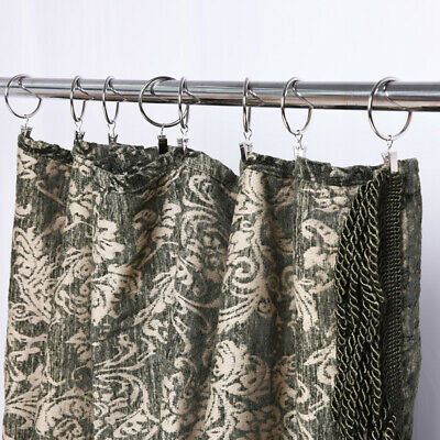 10-pack Metal Roman Ring Curtain Rings with Clips Curtain Hanging Clip Hook XI