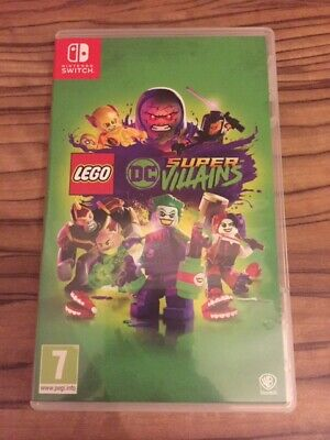 Lego Dc Super Villains Nintendo Switch Original Artwork And Game Case Only