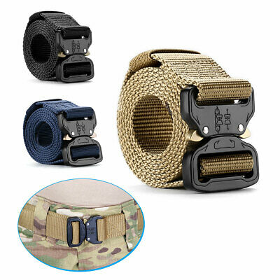 Adjustable Men Military Belt Buckle Combat Waistband Tactical Rescue Tool Rigger