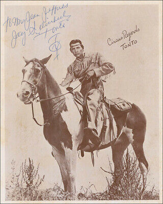 "Jay ""Tonto"" Silverheels - Autographed Inscribed Photograph"