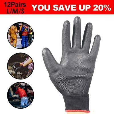 24X Antistatic Nylon Gloves Work Safety Working Mechanic Gloves Garden Builder