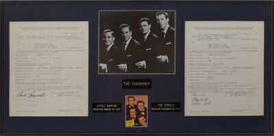 The Diamonds - Contract Signed 04/04/1973 With Co-Signers
