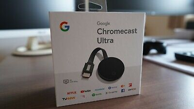 Google Chromecast Ultra Digital Media Streamer - Schwarz