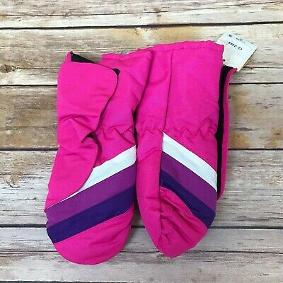 Cat And Jack Baby Girl Water Resistant Winter Mittens 12M-24M Pink Striped