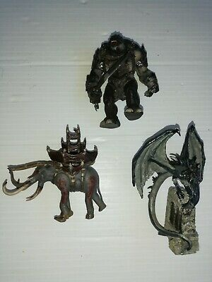 Lord Of The Rings NLP Fell Beast Witch King Rider, Oliphaunt, Troll Lead Figures