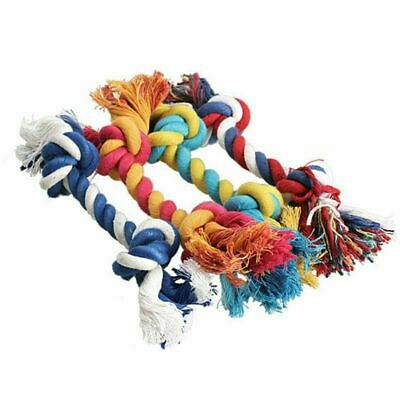 1 pc Pet Dog Puppy Heavy Duty Cotton Chew Knot Toy Durable Braided Rope Bone