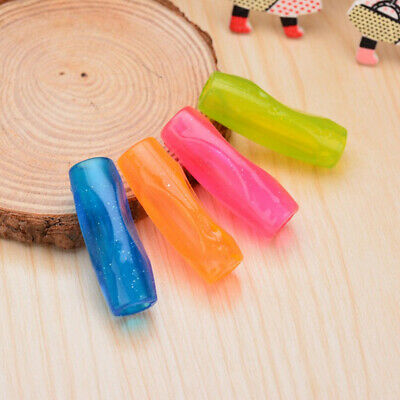 4pcs Glitter Pencil Grips Silicone Universal Pencil Holder for Preschoolers Kids