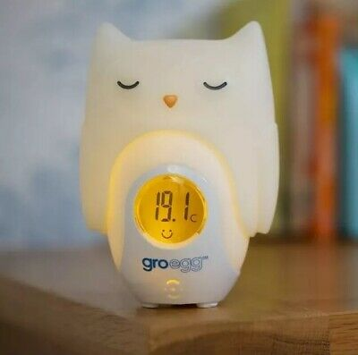 Gro-Egg Nursery Room Thermometer + Oona the Owl Shell Colour Changing Nightlight