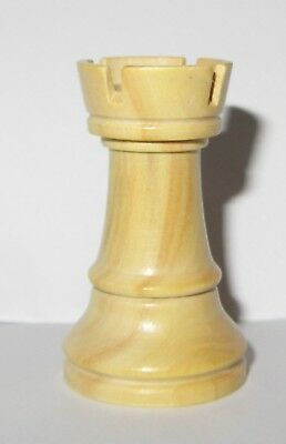 WOODEN STAUNTON PATTERN Rook White Chess piece for spare - NEW