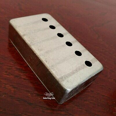 1 Vintage AGED RELIC Nickel Gibson Style Humbucker Cover BRIDGE Pickguard  #20B