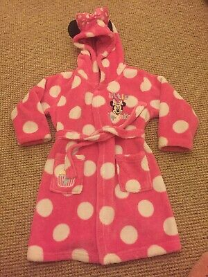 Girls Minnie Mouse Little Cup Cake Dressing Gown 3-4 Years Pink