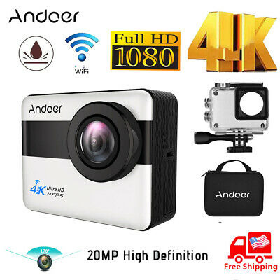 Andoer 4K Wifi Sports Action 1080P Full Hd 20Mp Camera Camcorder Waterproof
